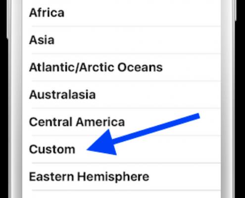 Screenshot of Custom List in BirdsEye